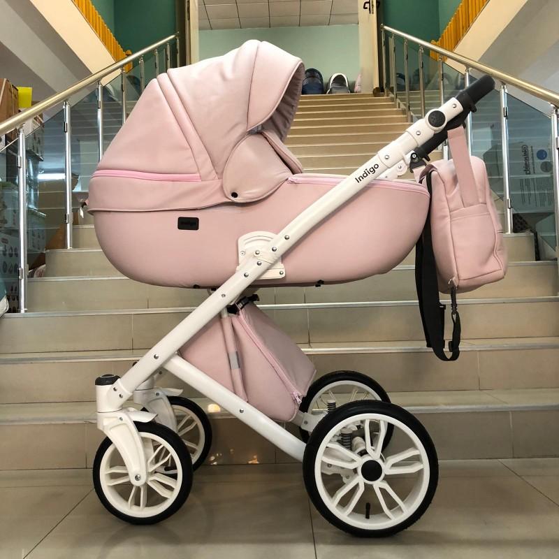 Бебешка количка Porto 3в1; цвят/розов