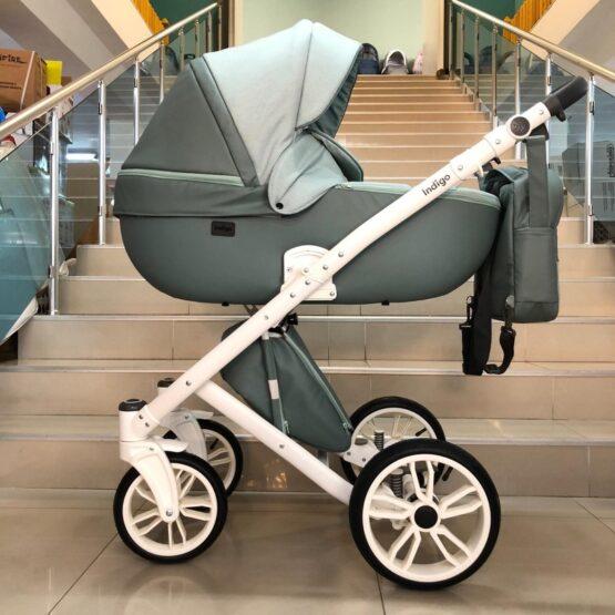 Бебешка количка Porto 3в1; цвят/зелен