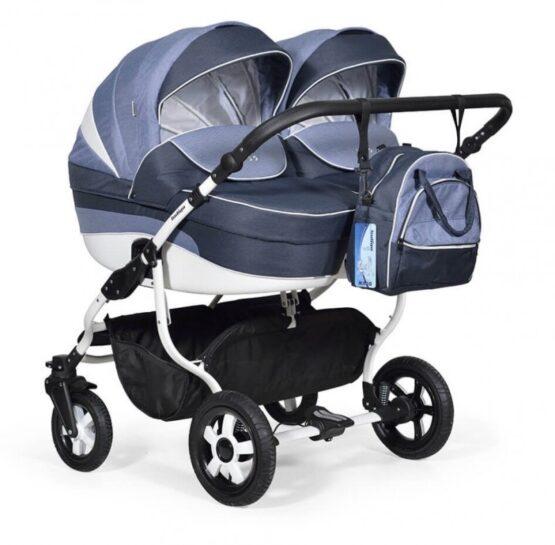 Бебешка количка за близнаци; цвят/тъмно-син
