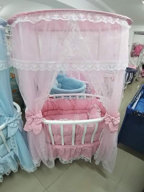 Бебешко легло-люлка Марина; цвят/розов