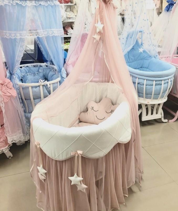 Бебешко легло-люлка Джулия;цвят/розов