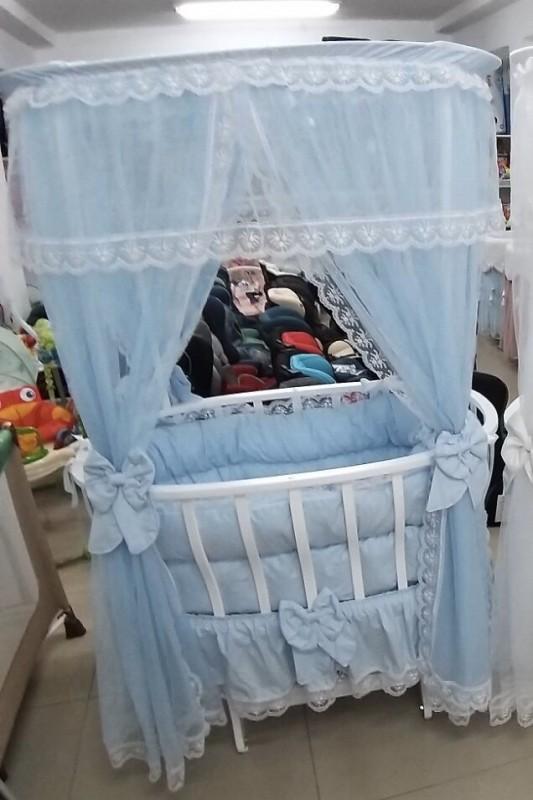 Бебешко легло-люлка Марина;цвят/син