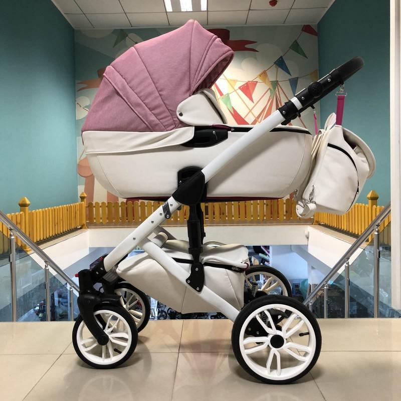 Бебешка количка Camaro 2в1; цвят/розов/бял