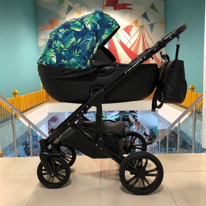 Бебешка количка Camaro 2в1; цвят/зелен/черен