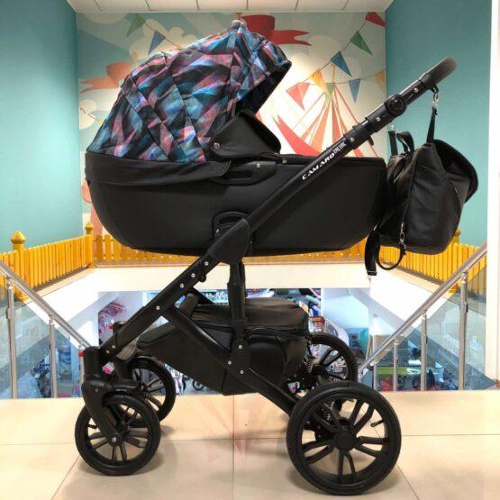Бебешка количка Camaro 2в1 ; цвят/черен/шарки