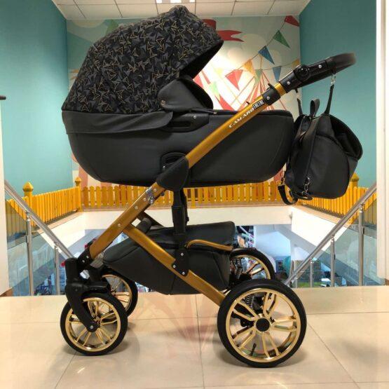 Бебешка количка Camaro gold 3в1; цвят/сив/шарки