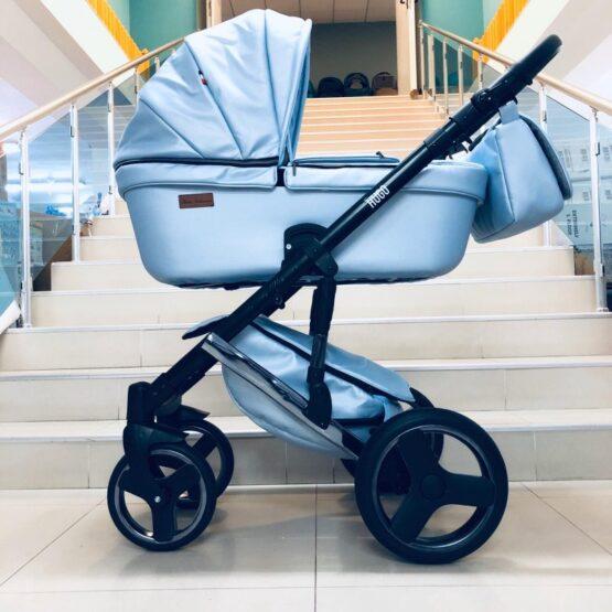 Бебешки колички Hugo 2в1; цвят: светлосин