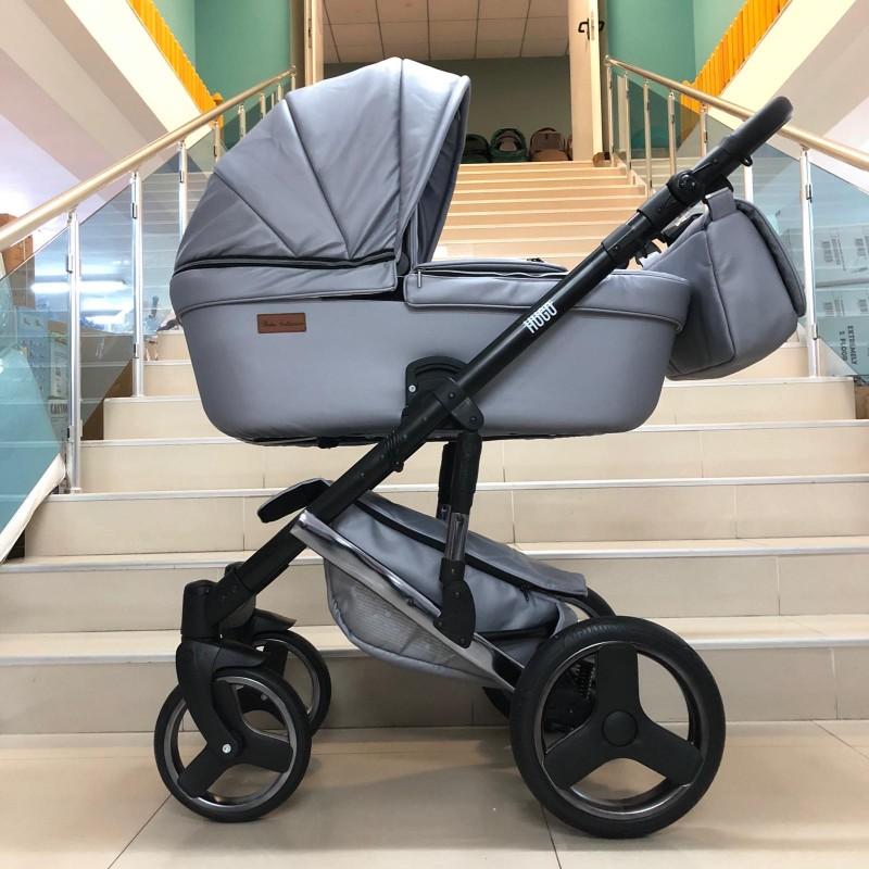 Бебешка количка Hugo 3в1; цвят: сив