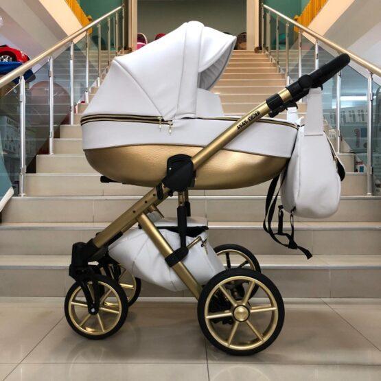 Бебешка количка Dolce 2в1; цвят/бял