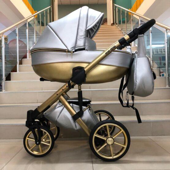 Бебешка количка Dolce 2в1; цвят/сребърно/злтно