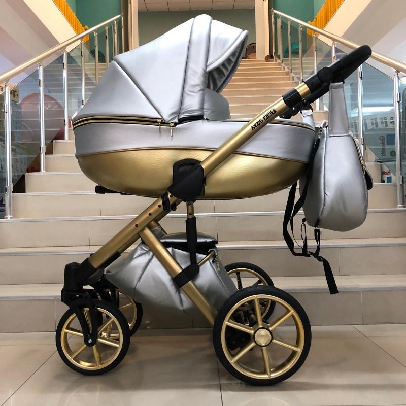 Бебешка количка Dolce 3в1; цвят/сребърно/златно