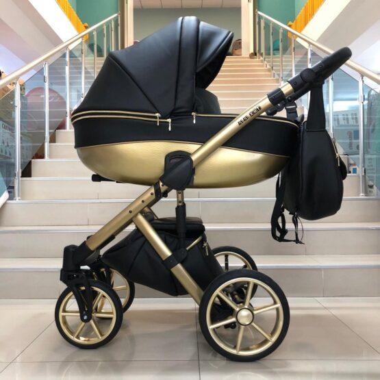 Бебешка количка Dolce 2в1; цвят/черен