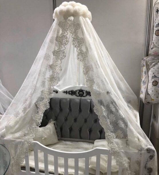Бебешко легло Sofija; цвят/сребърен