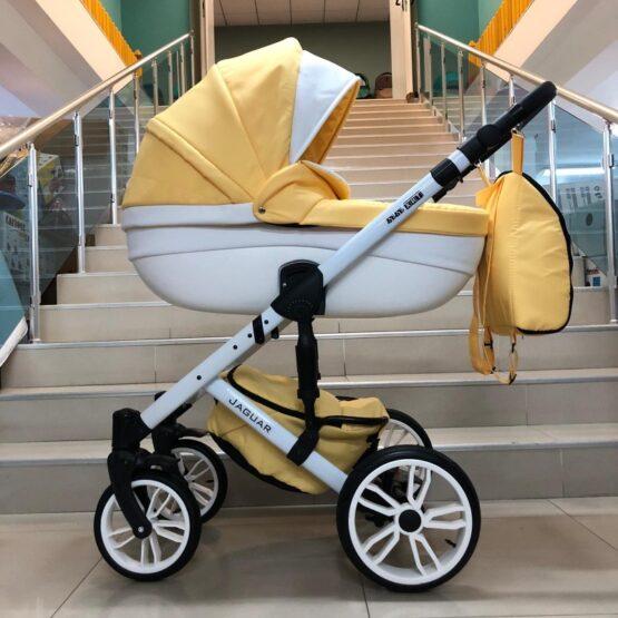 Бебешка количка Jaguar 2в1; цвят/жълт