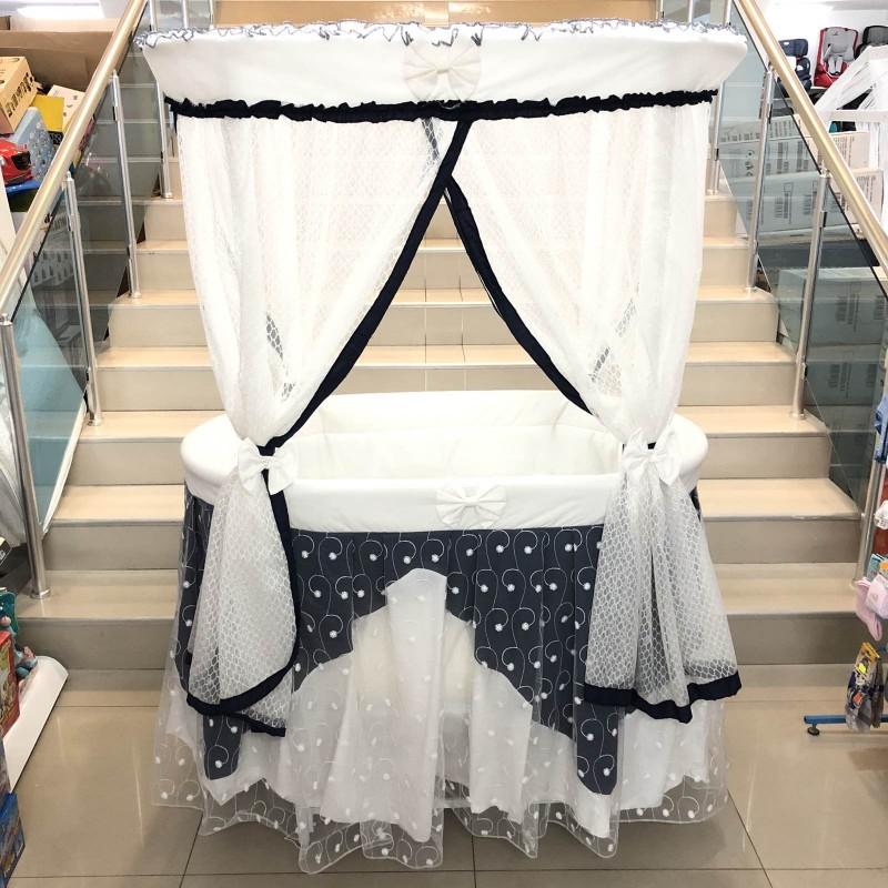 Бебешко легло-люлка Ива: цвят/син/бял