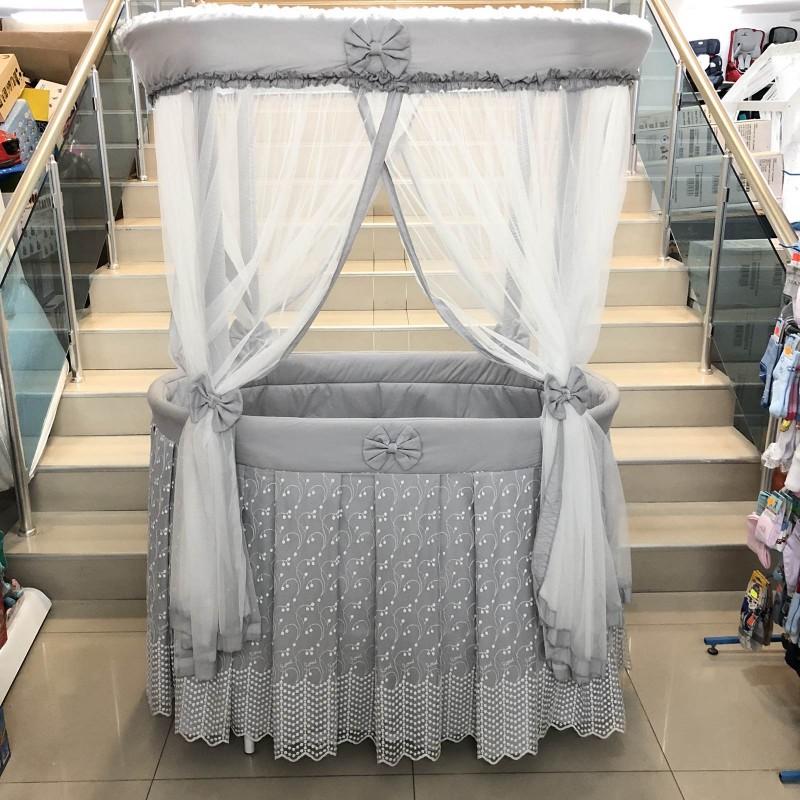 Бебешко легло-люлка Ива: цвят/сив