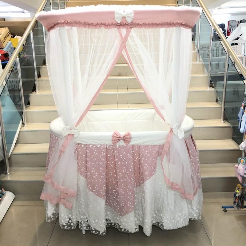 Бебешко легло-люлка Ива: цвят/розов