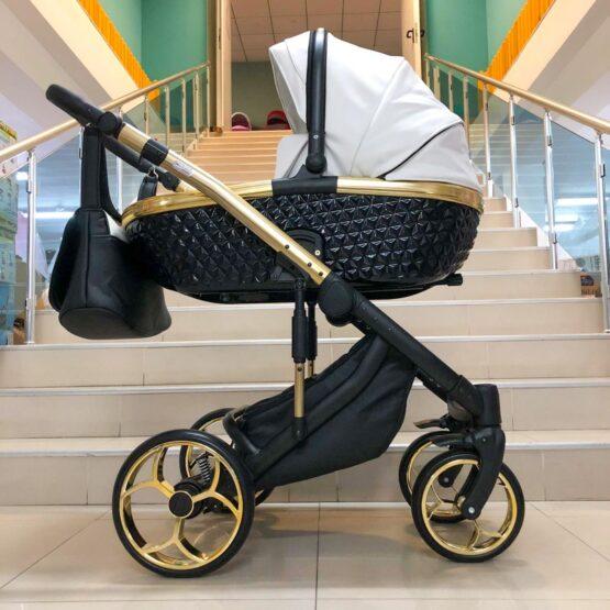 Бебешка количка Xsara 3в1; цвят: черен/бял