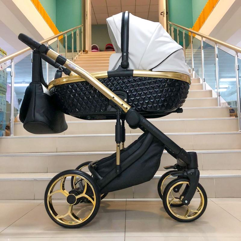 Бебешка количка Xsara 3в1; цвят: бял