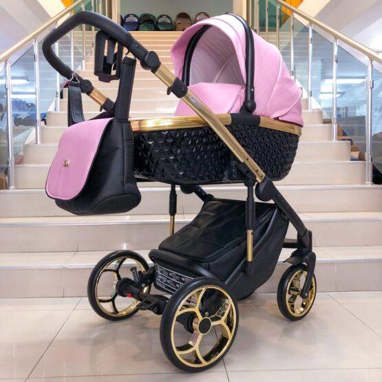 Бебешка количка Xsara 3в1; цвят: розов