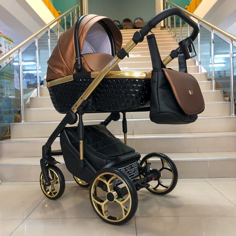 Бебешка количка Xsara 3в1; цвят: меден