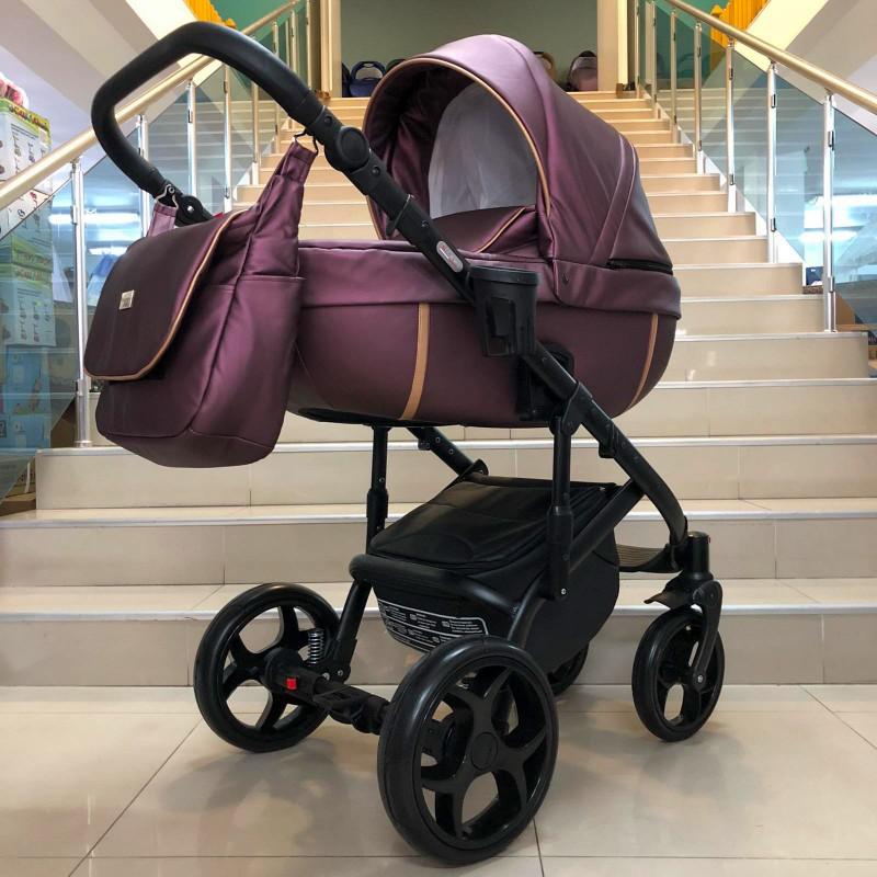 Бебешка количка Kuga 3в1; цвят: бордо