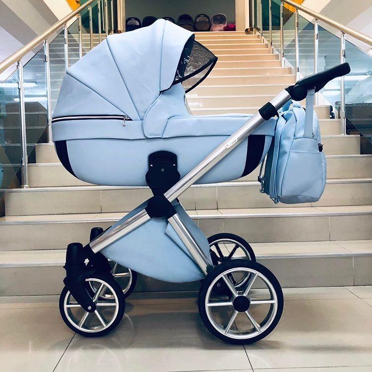 Бебешка количка Азуро 3в1 ; цвят: светло-син