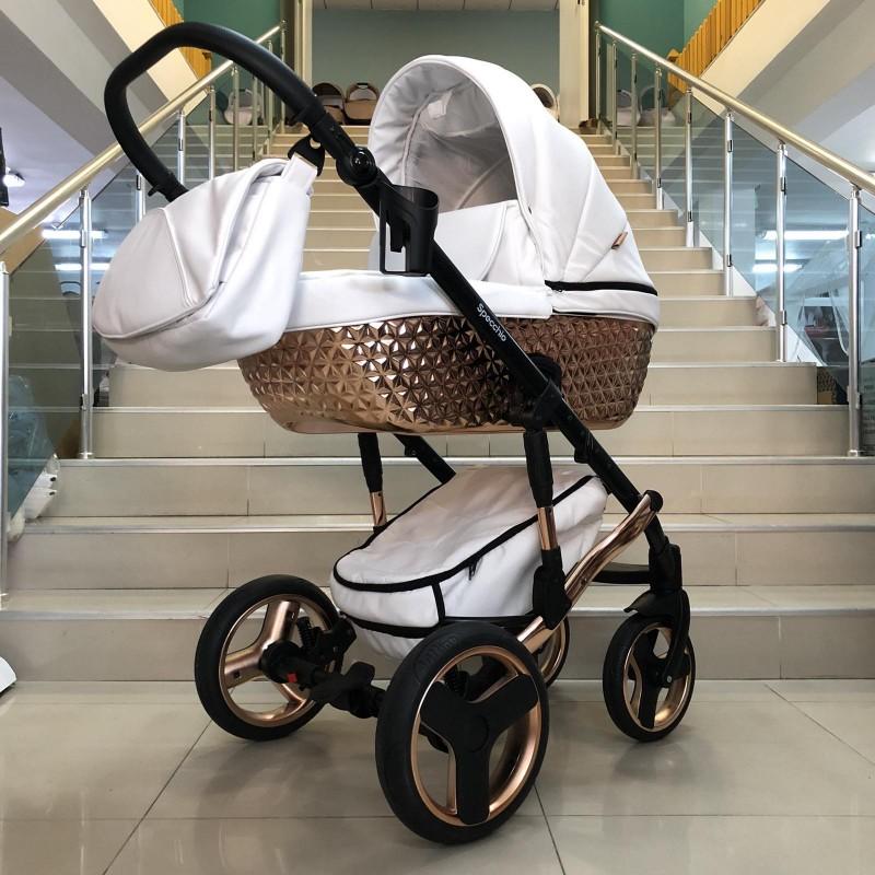Бебешка количка Specchio 2в1: цвят ; бял/меден