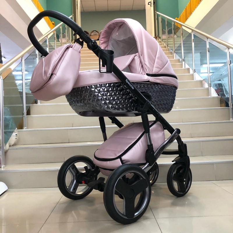 Бебешка количка Specchio 3в1: цвят; розов