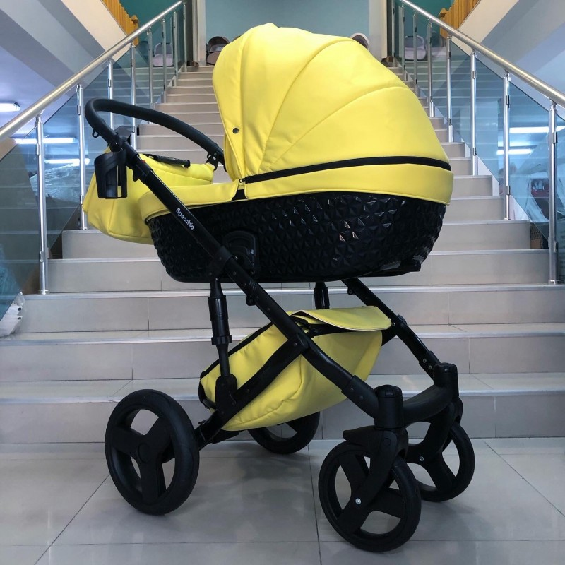 Бебешка количка Specchio 2в1: цвят ; жълт