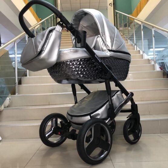 Бебешка количка Specchio 3в1:цвят ; сребърен