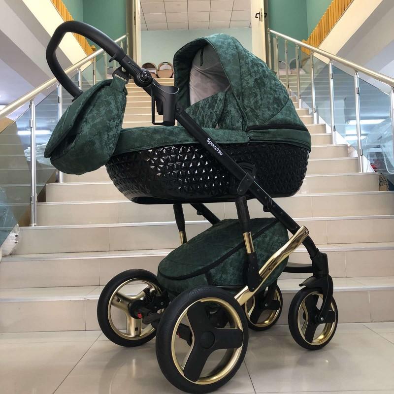 Бебешка количка Specchio 2в1 : цвят; зелен/шарки
