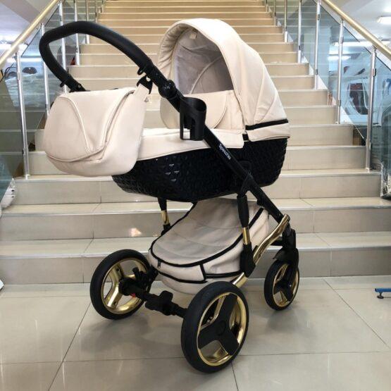 Бебешка количка 3в1 Specchio: цвят; крем