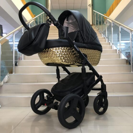 Бебешка количка Specchio 3в1 : цвят; черен