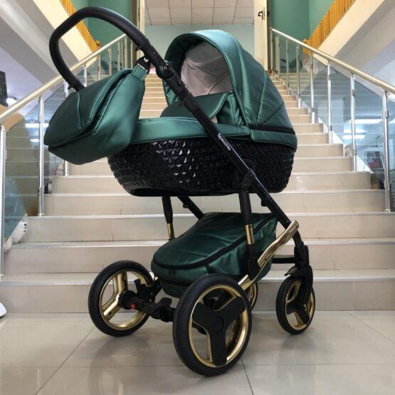 Бебешка количка Specchio 3в1: цвят; зелен