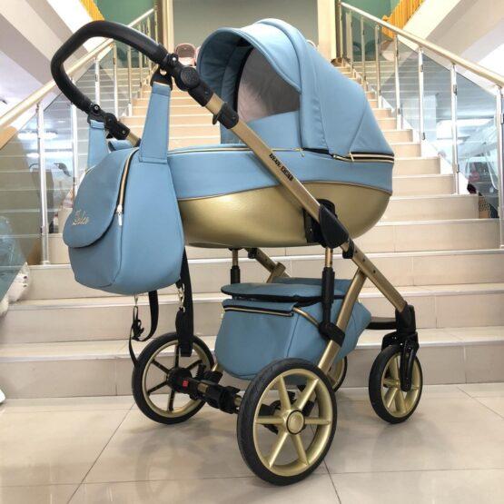 Бебешка количка Dolce 2в1: цвят; син
