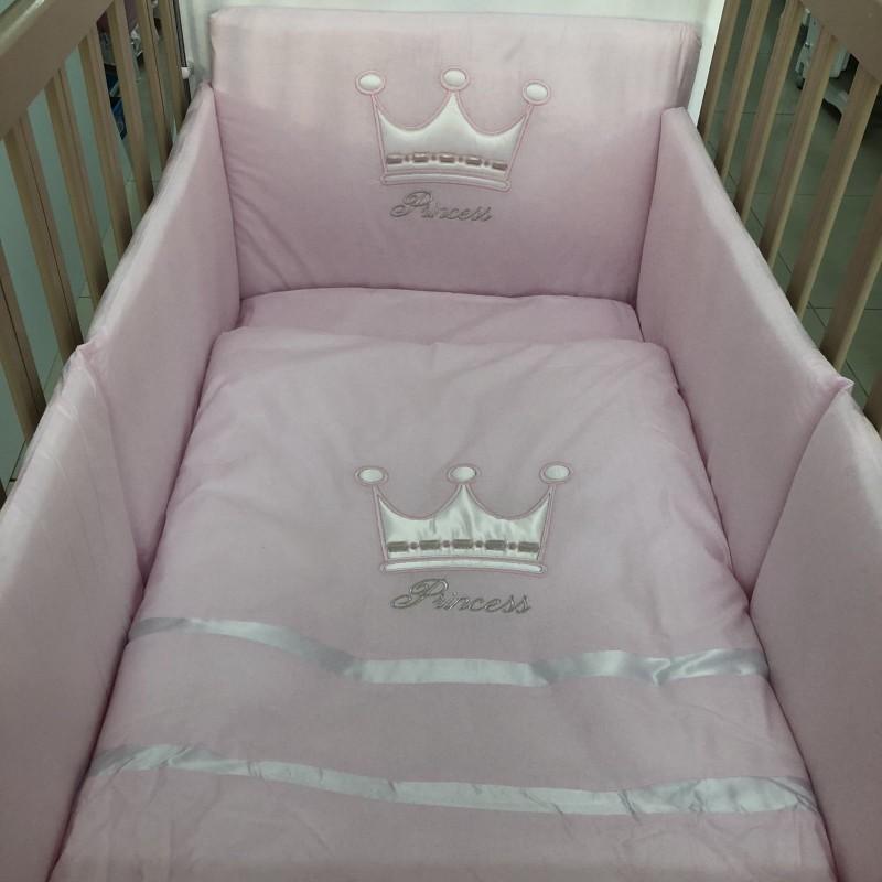 Спален комплект Корона; цвят: розов
