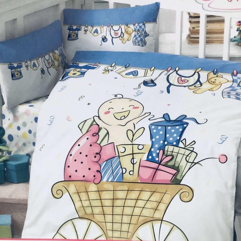 Комплект чаршафи 4 части; цвят: бебе в количка