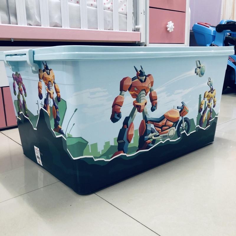 Кутия за играчки; цвят: син