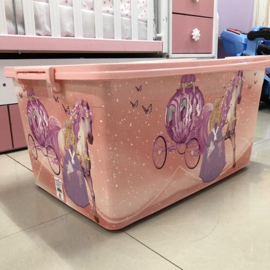 Кутия за играчки; цвят: розов