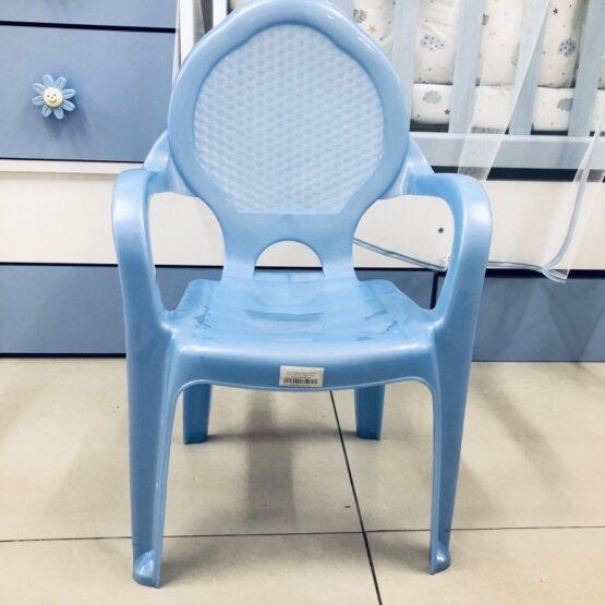 Детско пластмасово столче; цвят : син
