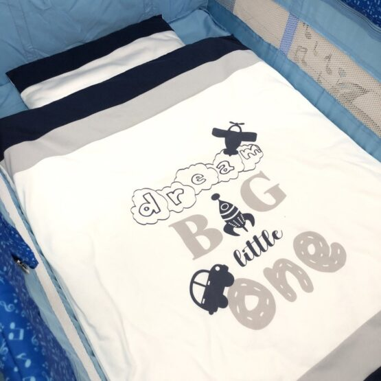 Спален комплект Бинго 4 части; цвят: син