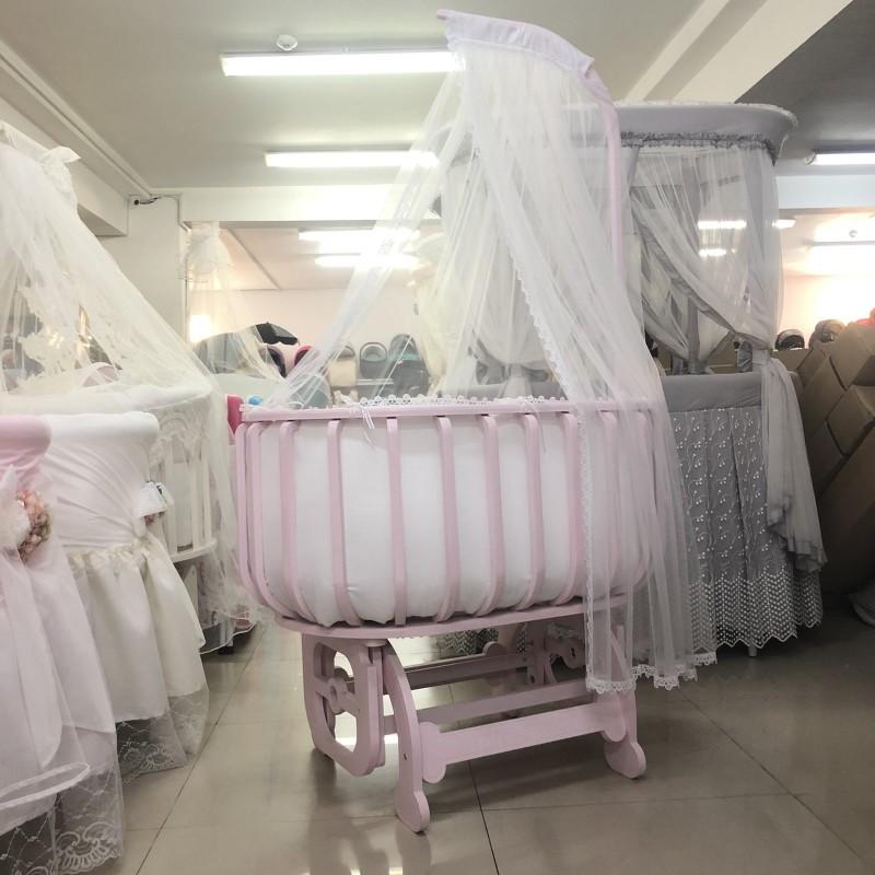 Легло-люлка Ава-Малина; цвят: розов