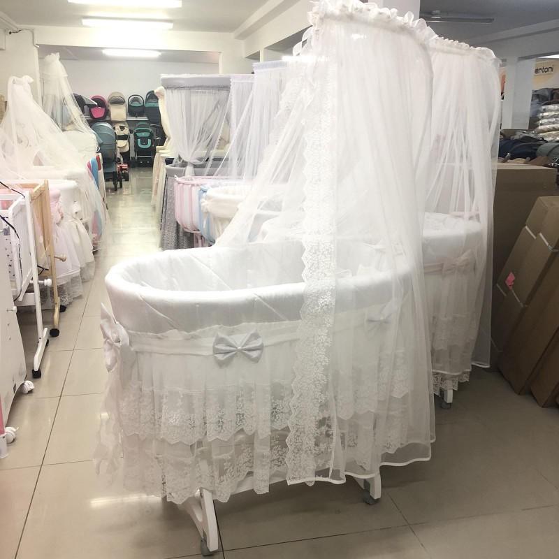 Легло-люлка Нидо ; цвят: бял