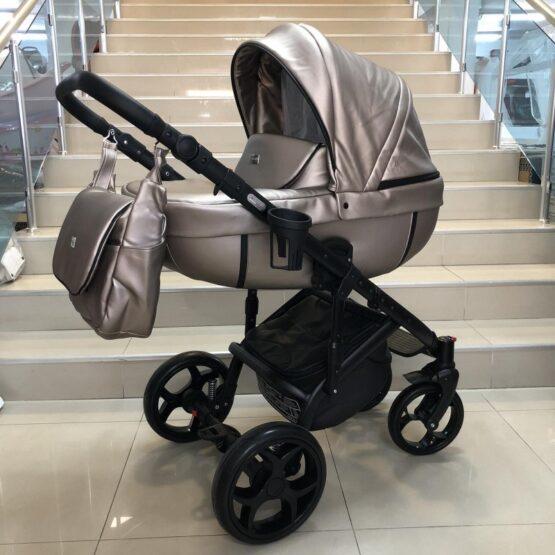 Бебешка количка Kuga 3в1; цвят: бежово-сребрист