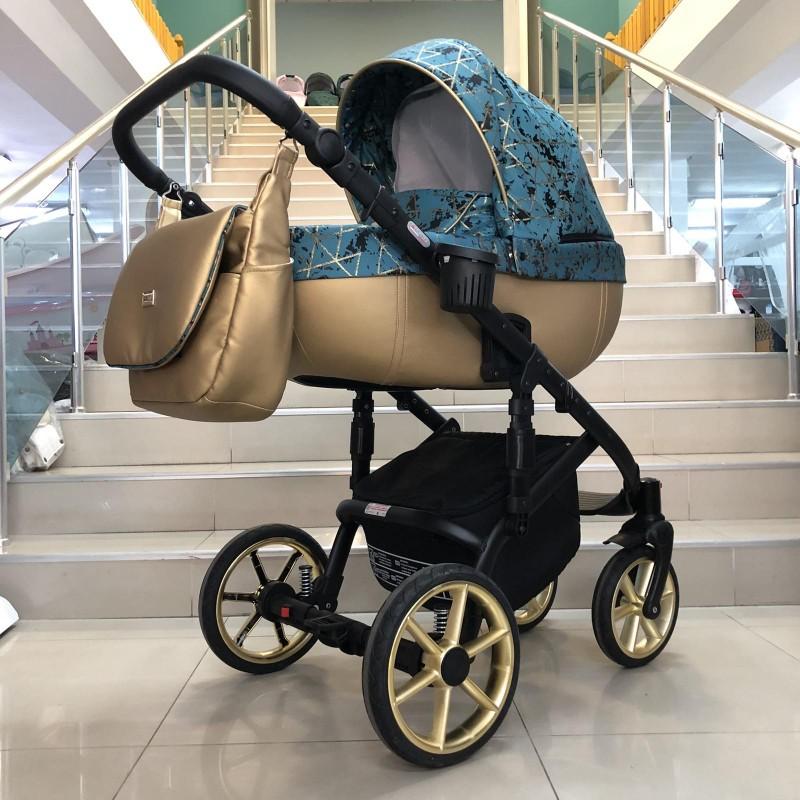 Бебешка количка Kuga 3в1: цвят: малахит/зелен