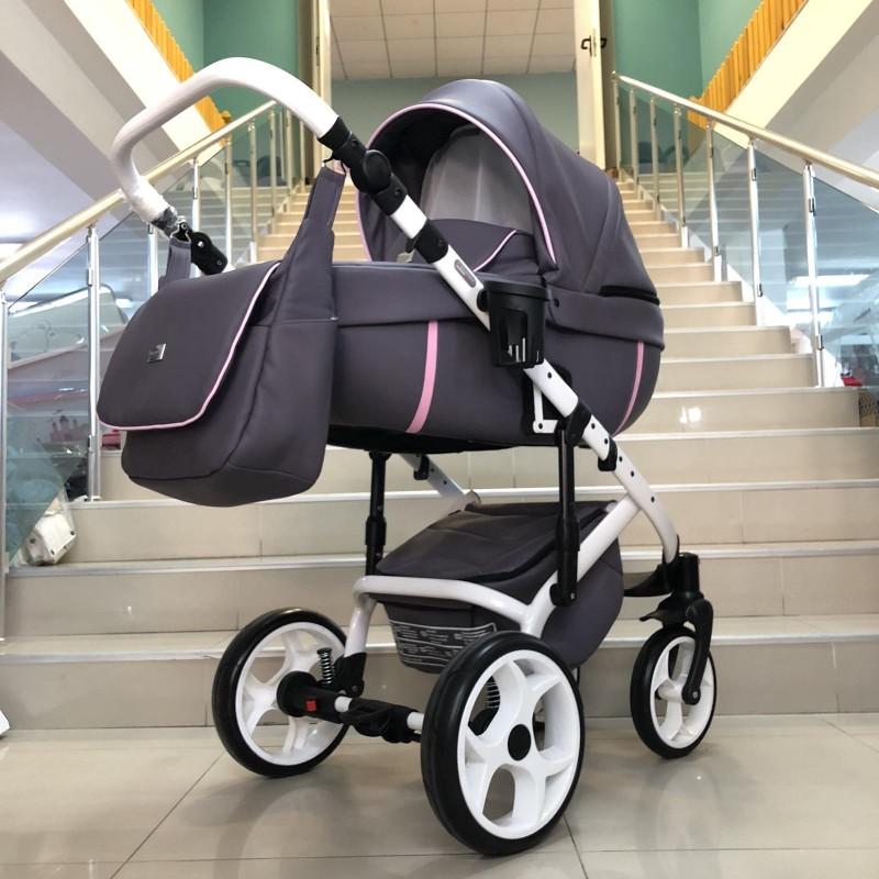 Бебешка количка Kuga 3в1: цвят: лилав/розов