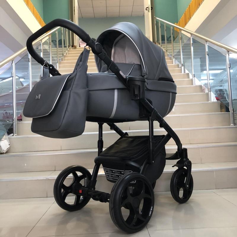 Бебешка количка Kuga 3в1: цвят: сив/сребрист