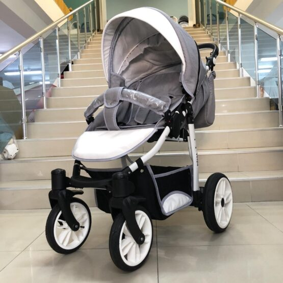 Комбинирана количка Vespa: цвят: сив/бял