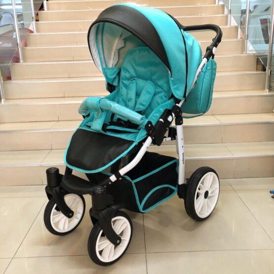 Комбинирана бебешка количка Vespa: цвят: малахит/черен